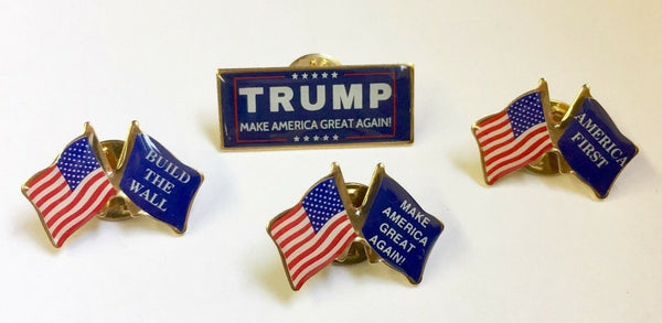 Set of 4 Donald Trump Campaign 2020 Lapel Pins