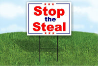 Stop the Steal Election Fraud TRUMP Yard Sign ROAD SIGN