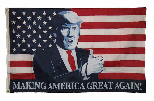 Trump President Make America Great Again MAGA Thumbs Up USA 3x5 Feet Flag