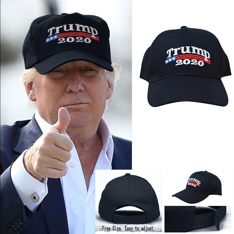Donald Trump Embroidered 2020  Black Baseball Hat