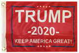 RED President Donald Trump 2020 Keep America Great Flag 3x5