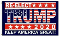 Re-Elect TRUMP 2020 Keep America Great Flag 3x5 with Grommets
