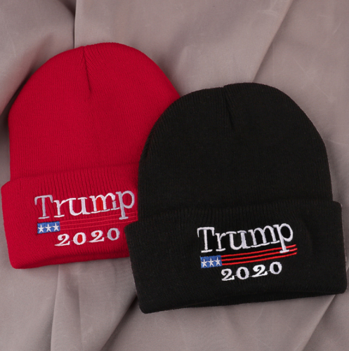 Trump 2020 Winter Hat Cotten Blend Unisex MAGA Beanies