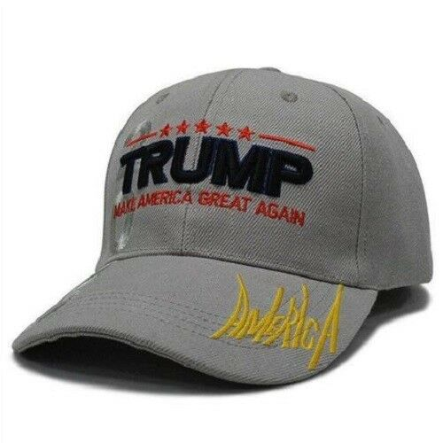 Trump 2020 Make America Great Again Hat Grey Baseball Hat