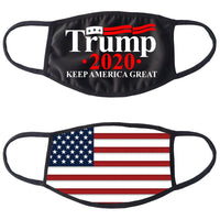 Trump 2020 Keep America Great Black Cotton Face Mask (2 sided)