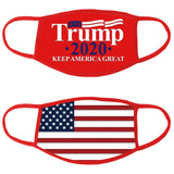 President Trump Red Keep America Great Face Mask (2 sided)