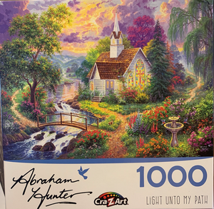 """Light Unto My Path"" Cra-Z-Art 1,000 Piece Puzzle"