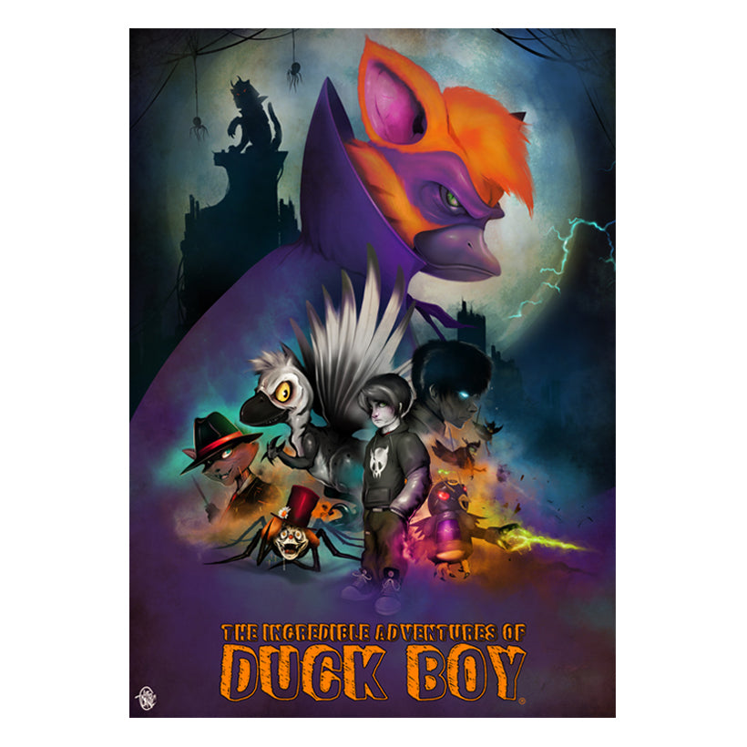 Duck Boy A3 Poster Print - Giclee Artist Signed 1 of 10