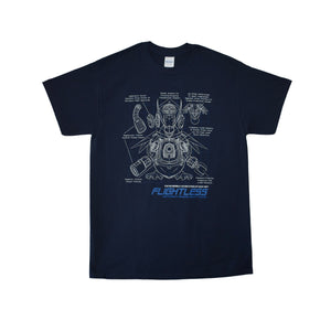 Duck Boy 'Flightless Blueprint' - T Shirt