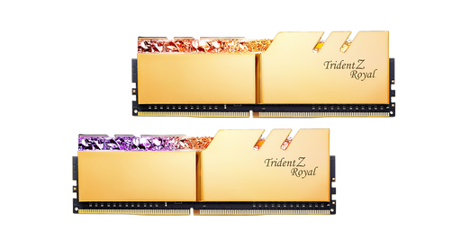 G.SKILL Trident Z Royal Series Gold 16GB (8GBx2) RGB DDR4 3600MHz