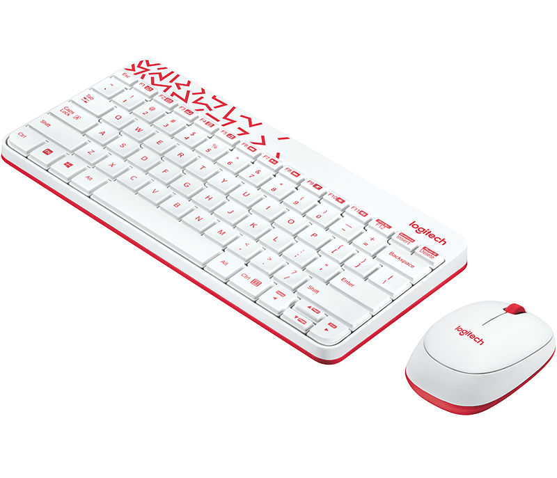 Logitech MK240 Nano Wireless Combo Red Keyboard