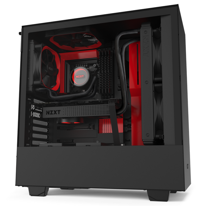 nzxt h510 black/red