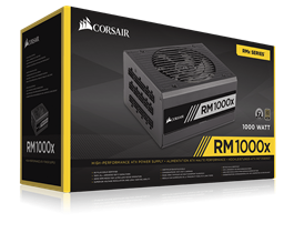 Corsair RM Series RM1000 — 1000 Watt 80 PLUS Gold Certified Fully Modular PSU