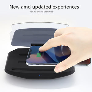 Multifunction Wireless Charging Phone Holder Windscreen Projector HUD Display