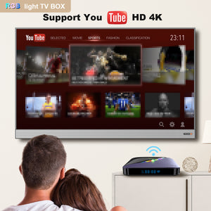 LEMFO A95X F3 Air RGB Light TV Box ANdroid 9.0 Amlogic S905X3 G31 GPU 2GB 16GB(optional) Smart TV Box Support 4K