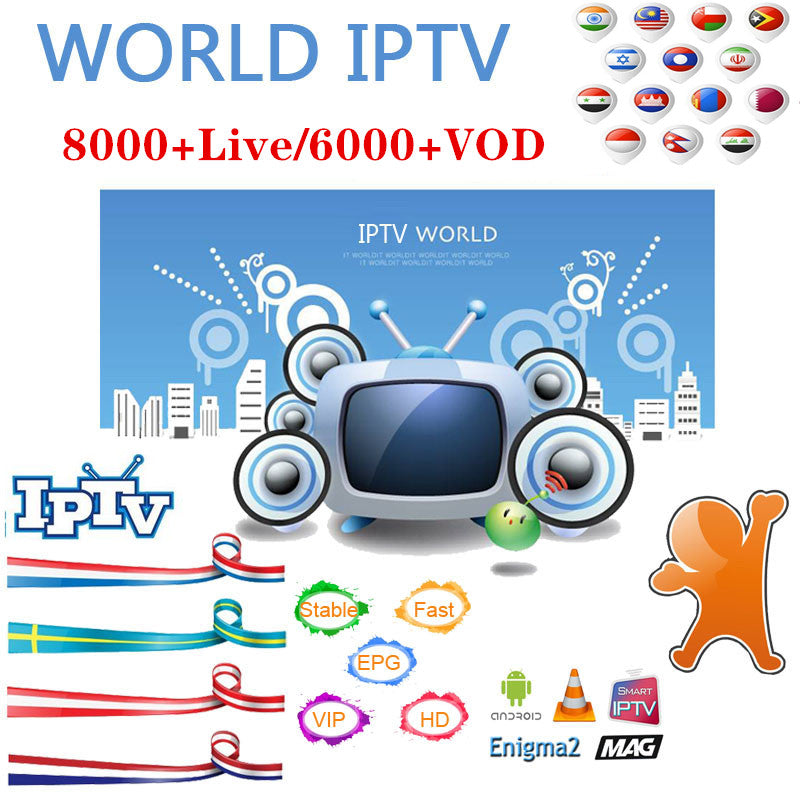 Over 8000+ Channels Over 6000+ Movies & TV Shows