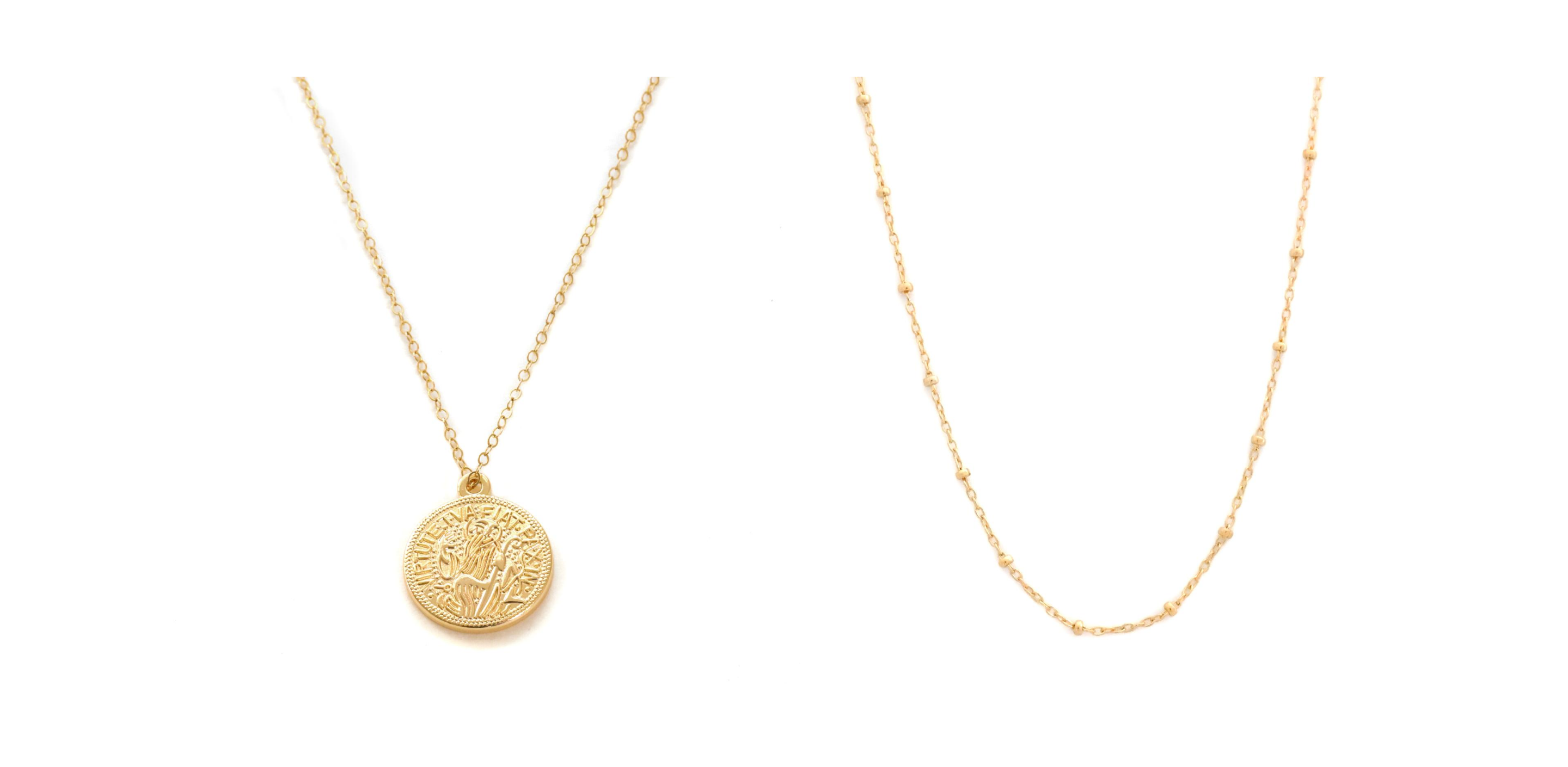 14K gold necklaces