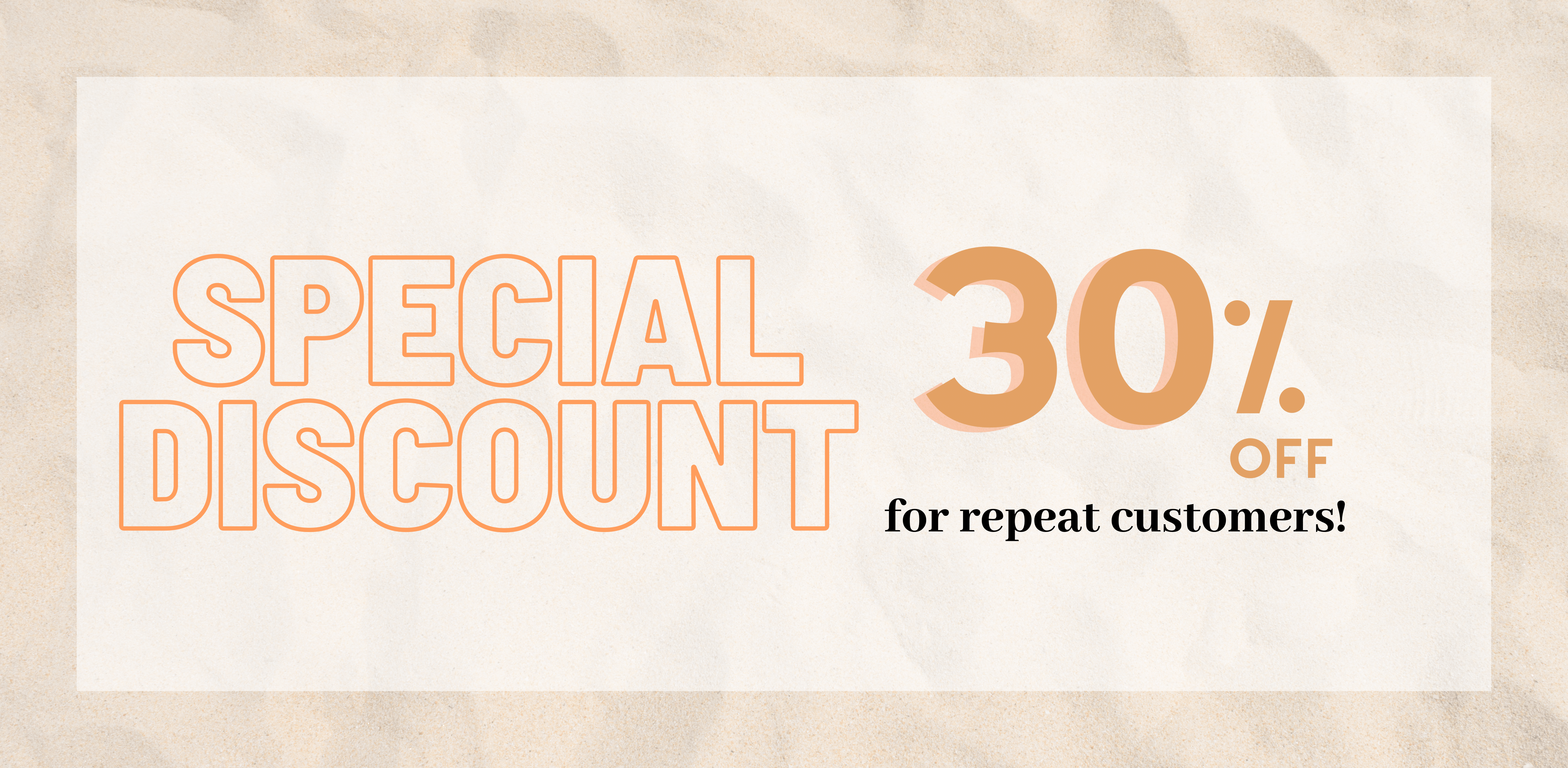 Special Discount 30% OFF