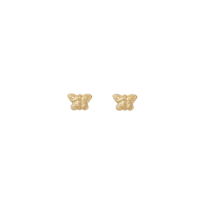 14K gold filled butterfly stud earrings