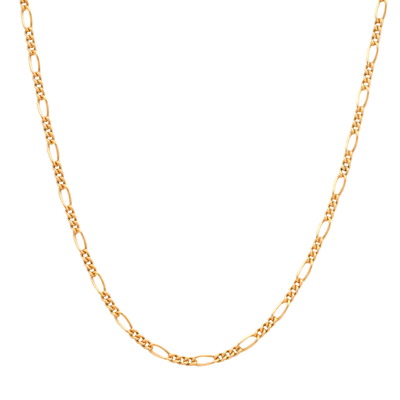 14K gold filled Figaro chain necklace