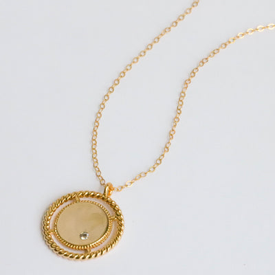 Gold coin necklace for everyday wear