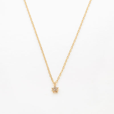Gold filled dainty star necklace