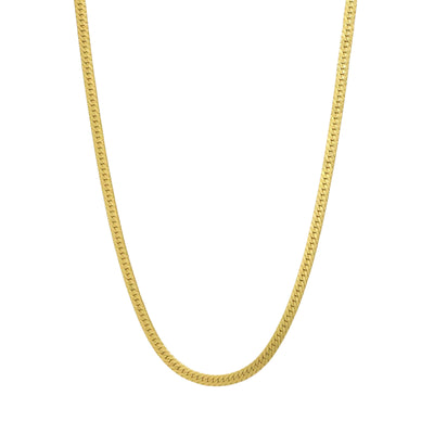 Gold filled herringbone chain necklace