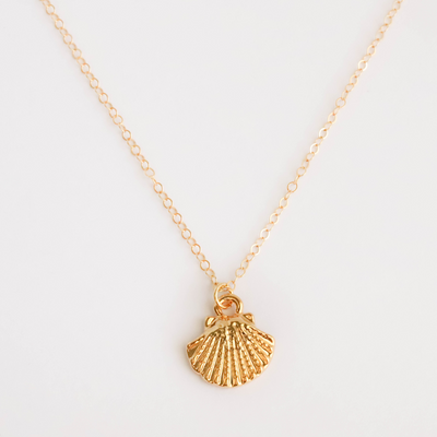 14K gold filled seashell necklace