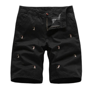 Men's  Embroidered Cargo Shorts