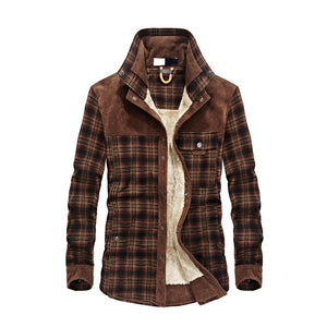 Men Cotton Liner Casual Outerwear Shirts