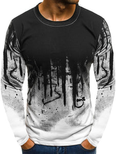 Splash-ink Pattern Long Sleeve Tee