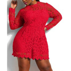 Womens Plus Size Lace Summer Rompers