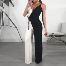 Load image into Gallery viewer, Spaghetti Strap Wide Leg Double Color Jumpsuit
