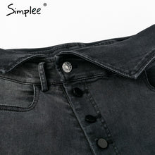 Load image into Gallery viewer, Sexy High Waisted buttons fold Skinny jeans