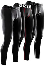 Load image into Gallery viewer, Men's Compression Pants Running Workout Tights Leggings Yoga
