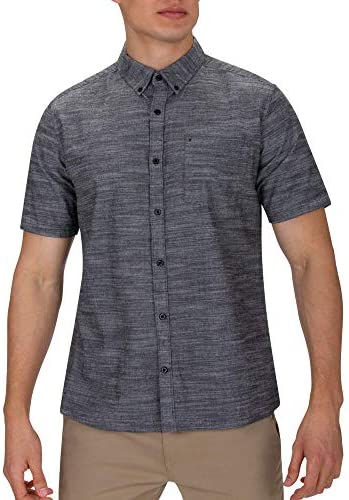 Textured Short Sleeve Button Up Shirt