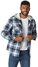 Load image into Gallery viewer, Long Sleeve Quilted Lined Flannel Shirt Jacket With Hood