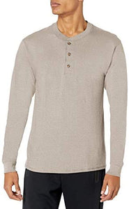 Long Sleeve Beefy Henley Shirt