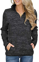 Load image into Gallery viewer, Zip Color Block Pullover Sweatshirt  With Pockets