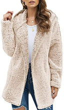 Load image into Gallery viewer, Fleece Long Sleeve Open Front Hooded Cardigans Jacket