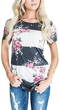 Load image into Gallery viewer, CEASIKERY Women's Short Sleeve Floral Print T-Shirt