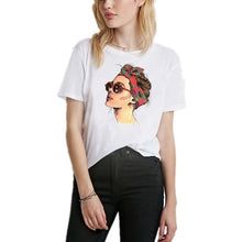 Load image into Gallery viewer, Summer Vogue Girl O-Neck print Women T- shirt