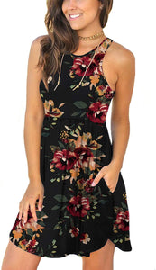 Women's Summer Casual Sundress with Pockets