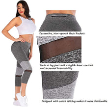 Load image into Gallery viewer, Women's Yoga Pants Workout Running Tummy Control 4 Way Stretch Leggings