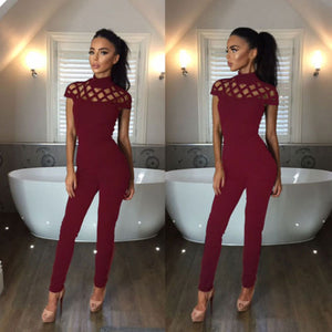 New Arrivals Fashion Women Casual Short Sleeve Jumpsuits