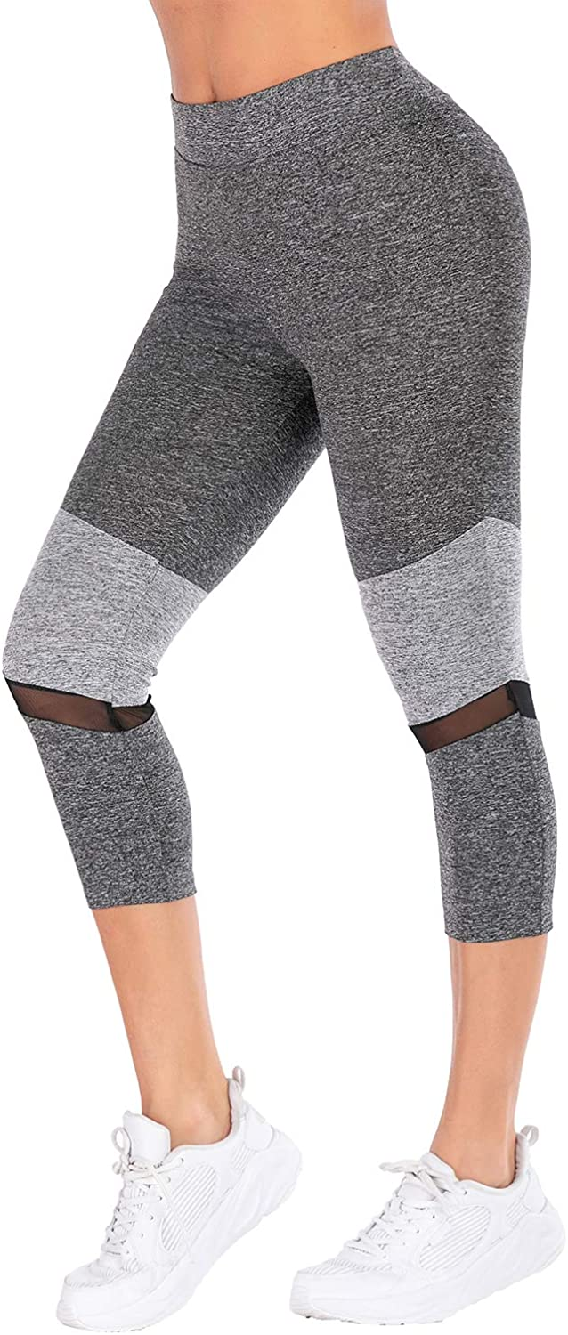 Women's Yoga Pants Workout Running Tummy Control 4 Way Stretch Leggings