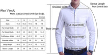 Load image into Gallery viewer, Alex Vando Mens Dress Shirts Regular Fit Long Sleeve Men Shirt
