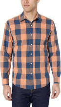 Load image into Gallery viewer, Amazon Essentials Men's Regular-Fit Long-Sleeve Plaid Casual Poplin Shirt