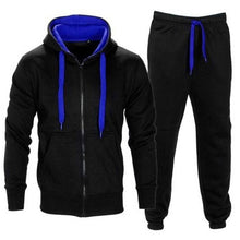 Load image into Gallery viewer, Mens Tracksuit Zipper Hooded SweatJacket + Sweatpants