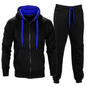 Mens Tracksuit Zipper Hooded SweatJacket + Sweatpants
